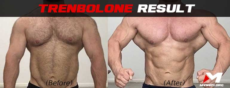 Trenbolone results (before and after)